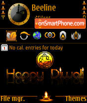 Diwali 08 s60v3 theme screenshot