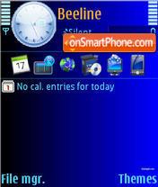 Simple Blue es el tema de pantalla