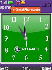 Swf Megafone Clock es el tema de pantalla
