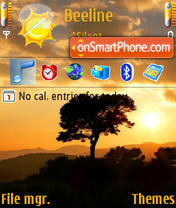 Tree At Dawn theme screenshot