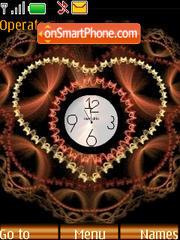 SWF clock Heart theme screenshot