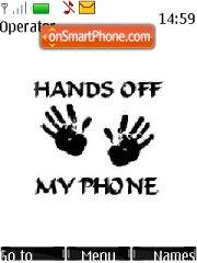 Hands Off My Phone es el tema de pantalla