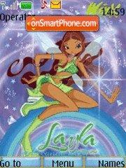 Winx club Layla theme screenshot