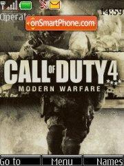Call of Duty 4 es el tema de pantalla