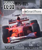 Ferrari's Michael Schumacher theme screenshot