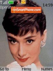 Скриншот темы Audrey Hepburn