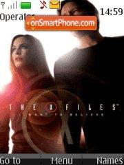 The X-Files theme screenshot