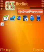Orange Abstract theme screenshot