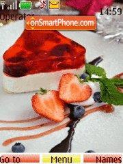 Strawberry Cake tema screenshot