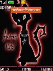 Black Angry Cat theme screenshot
