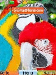 Parrots theme screenshot