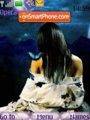 Butterfly Girl theme screenshot