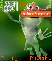 Crazy Frog 02 theme screenshot