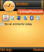 Black Ice Orange default theme screenshot