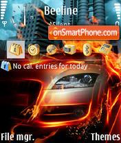 Fire Car theme screenshot