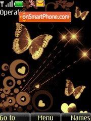 Golden Butterflies theme screenshot