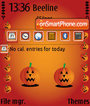 Halloween Pumpkin SVG theme screenshot