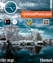 First Snow by Alfa theme screenshot