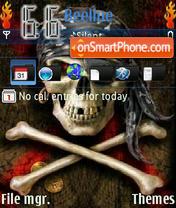 Pirate Skull theme screenshot