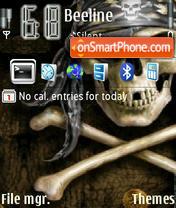 Скриншот темы Pirate skull V2