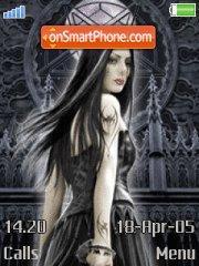 Goth Girl theme screenshot