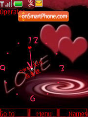 SWF clock Hearts Theme-Screenshot