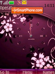 SWF clock flowers theme screenshot