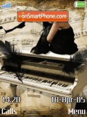 Piano and Girl theme screenshot