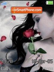 Girl and Rose theme screenshot