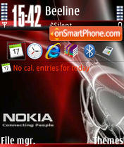 Nokia Red V1 theme screenshot
