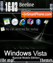 Black Vista V1 theme screenshot