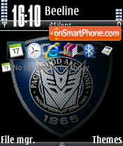 Black Police V1 tema screenshot