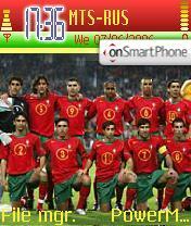 Portugal Football Team theme screenshot