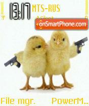Cute Chicks theme screenshot