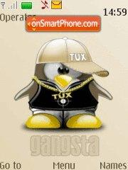 Скриншот темы Tux Gangsta