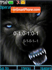 SWF clock Wolf theme screenshot