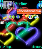 Neon Hearts Theme-Screenshot