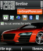 Audi R8 08 theme screenshot