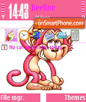 Cute Monkey 01 theme screenshot