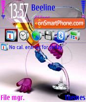 Glass Love theme screenshot