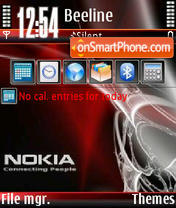Nokia Red V0 theme screenshot