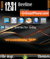 Windows Orange V0 tema screenshot