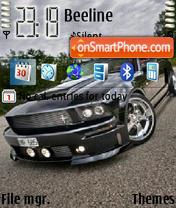 Black Ford Mustang theme screenshot