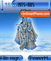 Radha Krishna theme screenshot