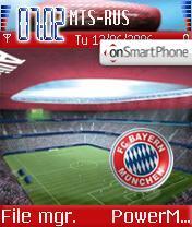 FC Bayern Muenchen theme screenshot