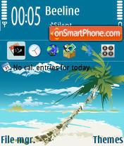 Palm Beach 01 tema screenshot