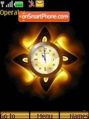 SWF golden clock es el tema de pantalla