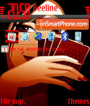 The girl with Cards theme screenshot