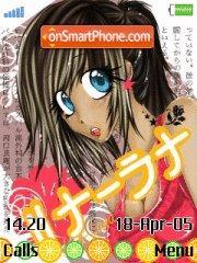 Manga Girl Lina-Lana es el tema de pantalla