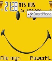 Smiley es el tema de pantalla
